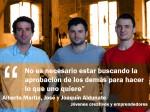 Alberto Martin, José y Joaquín Aldunate, creatividad y emprendimiento